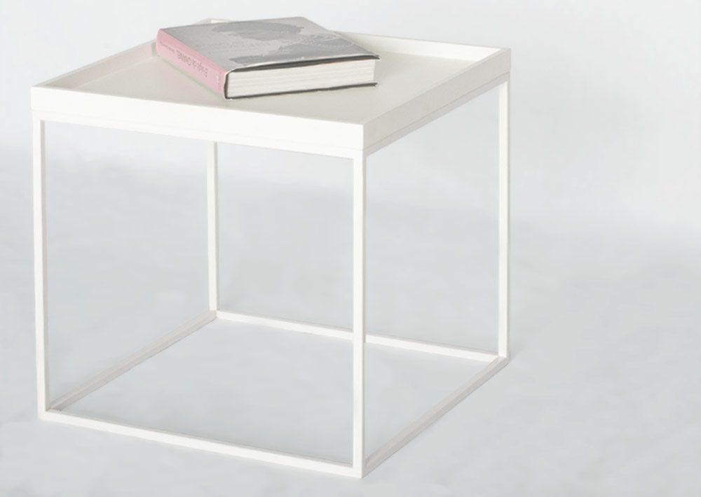 Mesa blanca pequeña - detalle