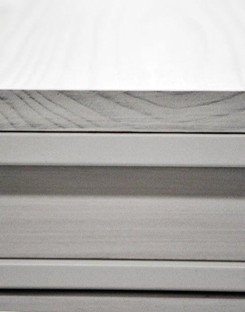 Tocador blanco - detalle madera