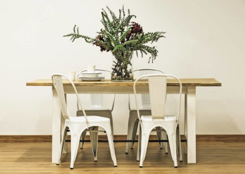 Mesa palas blancas