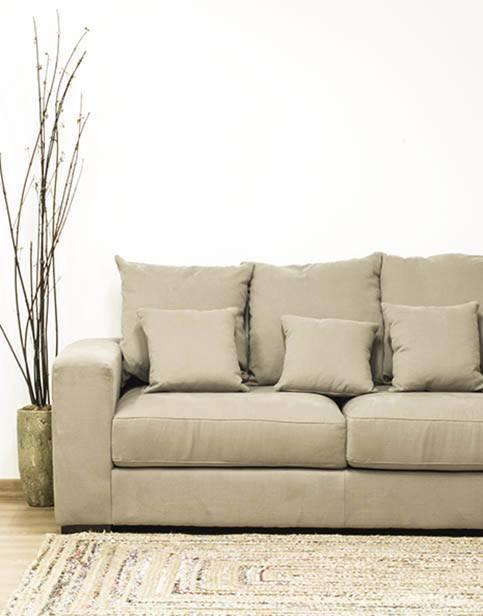 Sofá de tela - gris