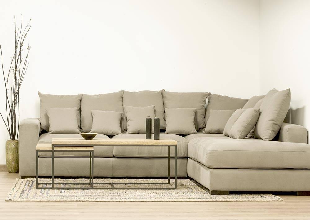 Sof modular con una chaise longue cube deco tienda de for Sofa modular gris