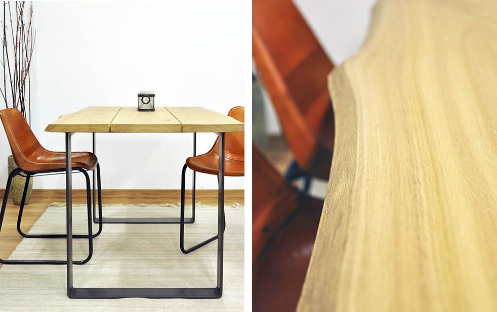 Mesa comedor madera maciza eucalipto